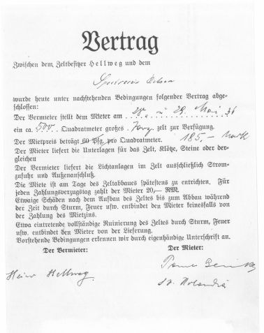 1936_05 Vertrag miete zelt